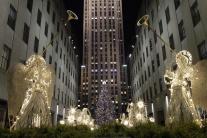 Stromček pred Rockefellerovým centrom