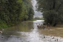 Rozsiahle povodne v Kysaku