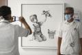 Banksy si novým dielom uctil zdravotníkov