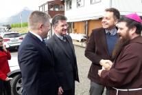 Na snímke zľava premiér SR Robert Fico, katolícky