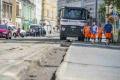 Práce na električkovej trati na Špitálskej v Bratislave pokračujú