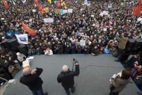 Protest v Petrohrade proti vráteniu Chrámu svätého