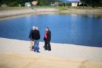 Novovybudovaná pláž pre rodiny s deťmi na Kolpašsk