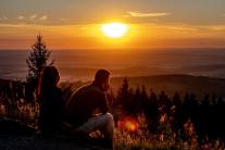 Romantický východ slnka