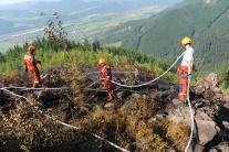 Lesný požiar na vrchu Jedľovina