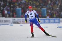 A. Kuzminová na MS v Östersunde v šprinte