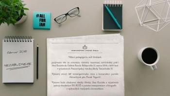 V Bratislave otvoria výstavu venovanú novinárskej práci J. Kuciaka