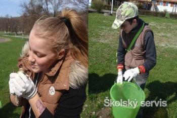 Palínski školáci zachraňovali žaby
