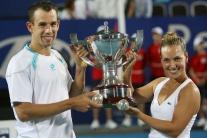 Dominik Hrbatý (vľavo) a Dominika Cibulková