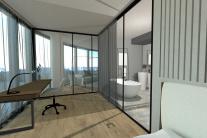 Spálňa a kúpeľňa
