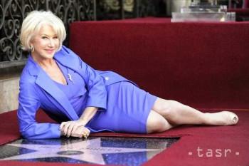 Herečka Helen Mirrenová má hviezdu na Chodníku slávy v Hollywoode