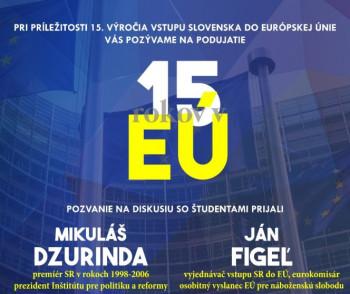 15. výročie vstupu Slovenska do Európskej únie si pripomenie aj UPJŠ