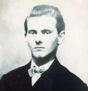 Pri svojej prvej bankovej lúpeži ukradol Jesse James 62.000 dolárov