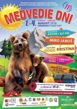 Detský festival Medvedie dni ponúkne na Hrebienku množstvo zábavy