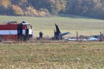 Miesto pádu vojenského lietadla L-39