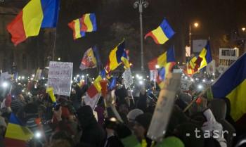 Tisíce ľudí protestovali proti rumunskej vláde už 20. deň po sebe