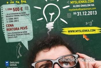 Maturanti súťažia v Myšlienke o 500 EUR a štipendium na PEVŠ
