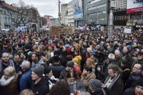 pochod, Bratislava, ľudia Námestie SNP