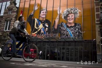 Amsterdam sa pred korunováciou nového kráľa vyfarbil na oranžovo