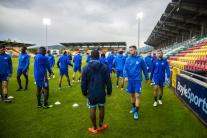 Tréning Slovanu Bratislava pred zápasom s FC Dunda