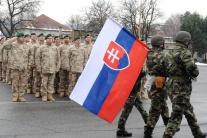 Privítanie strážnej jednotky po návrate z misie v
