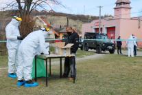 Testovanie Rómov v Hrabušiciach na ochorenie COVID