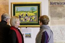Návštevníci vernisáže výstavy Slovenské insitné ma