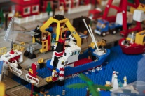 Výstava z kociek stavebnice LEGO