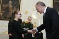 Kiska prijal Kristínku, ktorej sa posmievali, že chce byť prezidentka