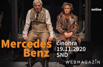 Činohra SND uvedie v online prenose oceňovanú hru Mercedes Benz