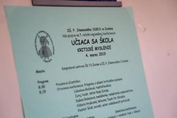 ZŠ P.Jilemnického zorganizovala regionálnu konferenciu Učiaca sa škola