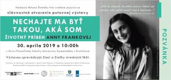 Výstava venovaná A.Frankovej učí ako pracovať s predsudkami na školách