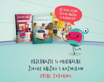 Učitelia, objednajte si bezplatne žiacke knižky s Kozmixom pre žiakov