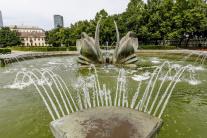 Labutia fontána v Medickej záhrade