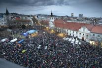 Zhromaždenie Za slušné Slovensko v Bratislave