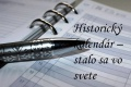 Svet: Historický kalendár na 25. apríla