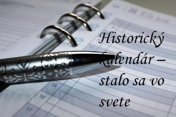 Svet: Historický kalendár na 23. júla