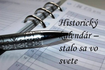 Svet: Historický kalendár na 21. mája