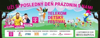 Posledný deň prázdnin patrí Telekom Detskému festivalu