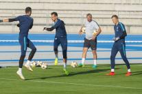 Tréning slovenských futbalistov pred kvalifikačným