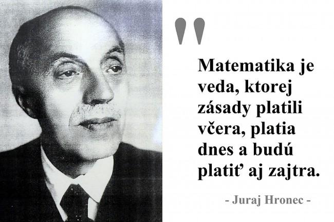 Jur Hronec Bol Autoritou Pre Vedecke Kruhy I Spolocnost