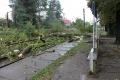 Hasiči v Trenčianskom kraji po búrke odčerpávali vodu z pivníc