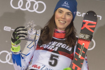 Slovenská lyžiarka Petra Vlhová skončila druhá aj