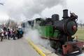 V skanzene v Nitre sa odviezli Mikulášskym historickým vlakom