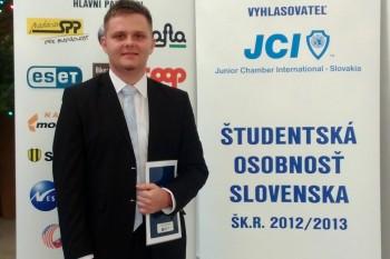 Študent Lekárskej fakulty UPJŠ získal cenu za vedecko-výskumnú činnosť