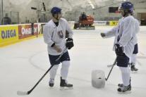 Tréning slovenských hokejistov