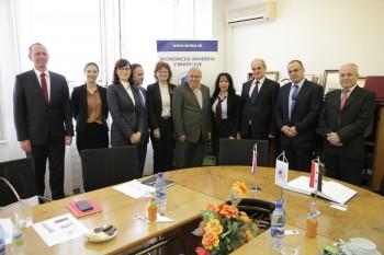 Prijatie delegácie z Tishreen University v Sýrii
