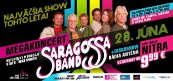 Lístky na koncert Saragossa Band za zvýhodnenú cenu len do konca mája