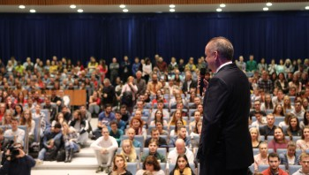 Prezident: Navštívil TUKE, spomenul aj financovanie vedy a výskumu