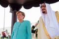 Merkelová prišla na návštevu Saudskej Arábie. Hlavu zahalenú nemala